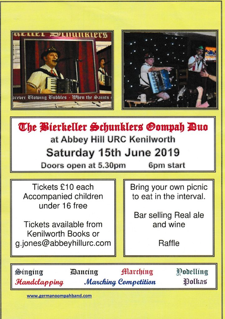 Fun Evening with Oompah Music 15th June | Abbey Hill United